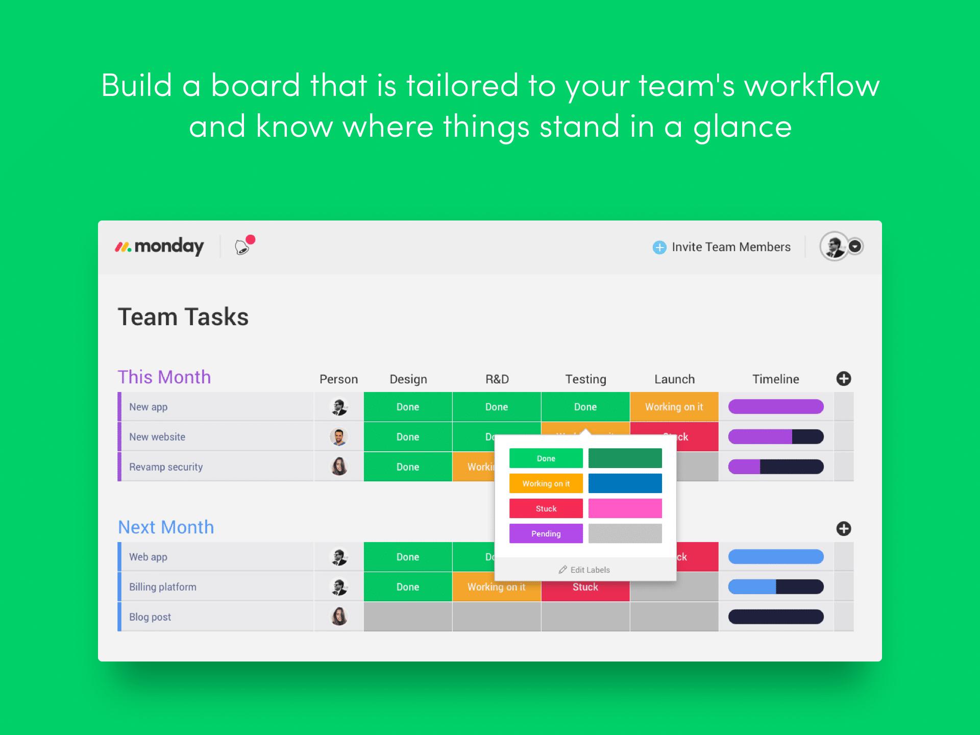 Monday - Application pour mieux s'organiser
