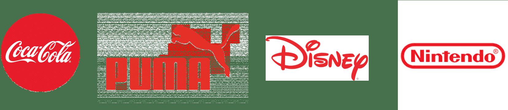 exemple de logos rouges
