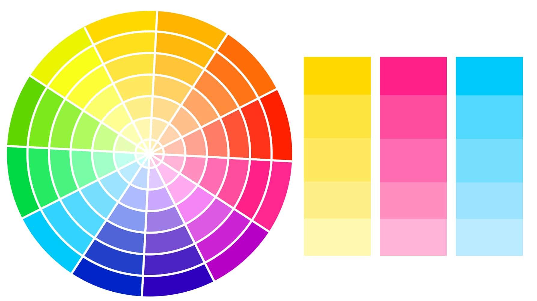 palette triadique