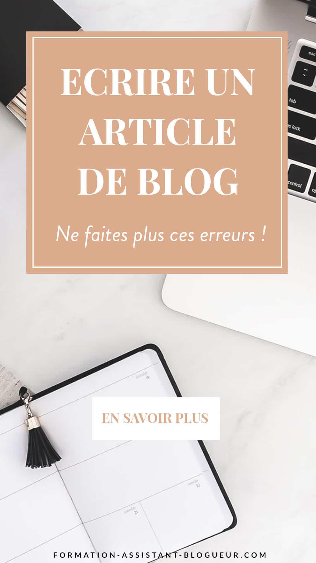 Ecrire un article de blog sans faire d'erreur